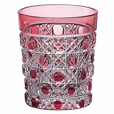 KAGAMI CRYSTAL カガミクリスタル 江戸切子 懐石杯(八角篭目紋)(赤) 65cc T590-1CAU 盃