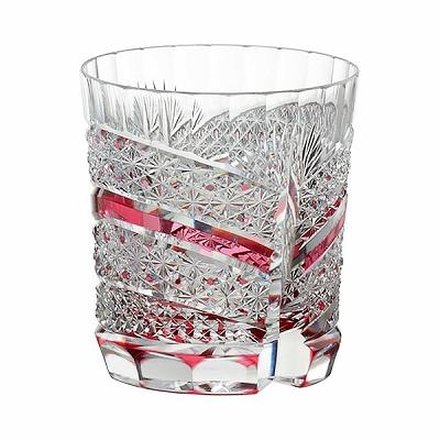 KAGAMI CRYSTAL カガミクリスタル ロックグラス(菊籠目に魚子紋) 300cc T685-2524CAU
