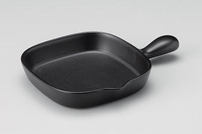 優先配送 魚焼きグリルに最適サイズ 三陶 萬古焼 角グリルパン 片手鍋 送料無料限定セール中 黒釉 15596 アメ 15675 オリーブ 15345 グリーン 15352