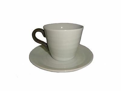 在庫限り 最終放出 美濃焼 白磁デミタス碗皿 セールSALE%OFF カップ 交換無料 14590 デミタスコーヒーカップ あす楽対応 ソーサー
