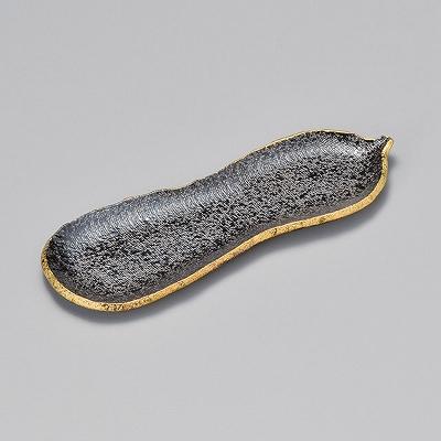 送料込 黒ちらし口金瓢形突出皿 メーカー公式ショップ 22108-460