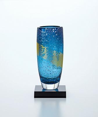 東洋佐々木ガラス 花器(藤花文様) 68910-H27 花瓶