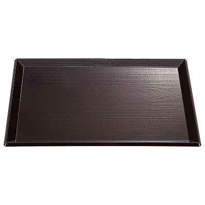 A 富士長手木目盆 溜NS 市販 1100474 ノンスリップ加工 尺3寸 最安値に挑戦