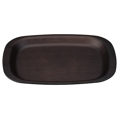 A 小判木目トレー 100%品質保証 総ダークブラウン 1101505 デポー 9寸