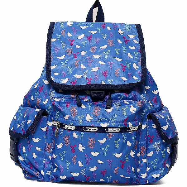 LeSportsac レスポートサック リュックサック Voyager Backpack SONG BIRDS BLUE