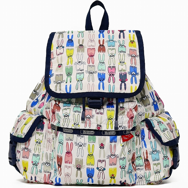 LeSportsac レスポートサック リュックサック Voyager Backpack COLORING BOOK RABBITS