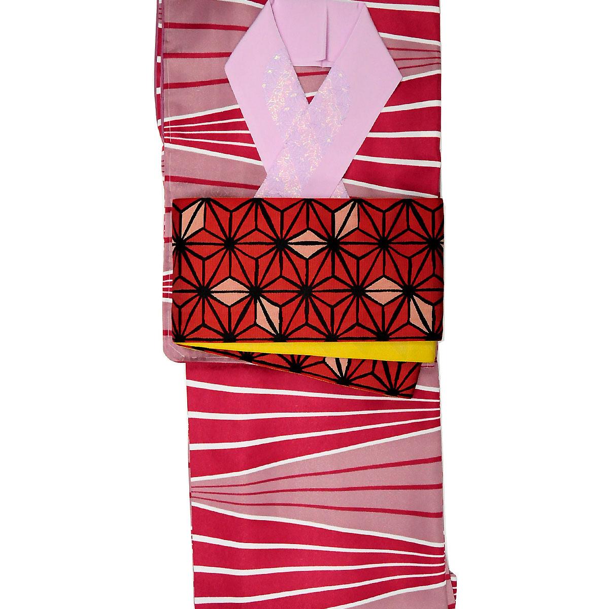 《30%オフクーポン利用可》お買い物マラソン【M寸】【hiromichi nakano】洗える着物【袷】セット洗える着物+細帯+ラメ刺繍半衿番号c1101-122