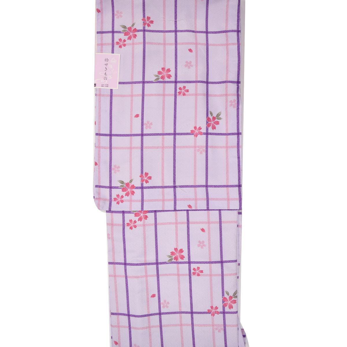 【M寸】上質生地仕立て上がり袷洗える着物【単品】番号c905-32 kimono washable