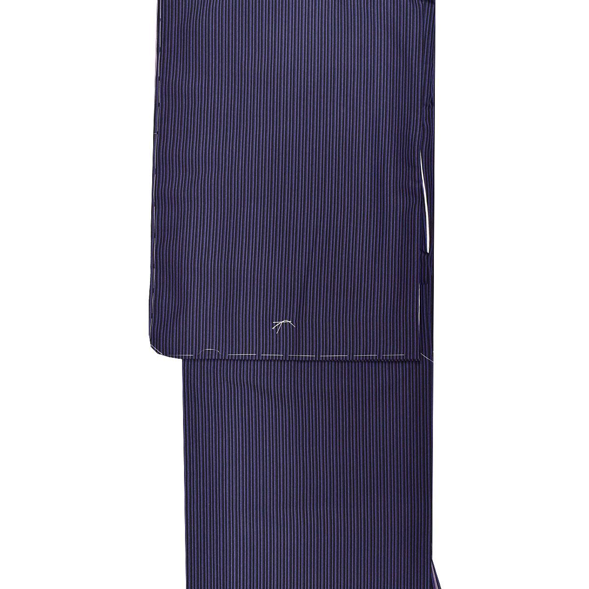 【万筋】洗える 袷 江戸小紋 単品【M寸】洗える着物 普段着 小紋 紫番号c1105-6e
