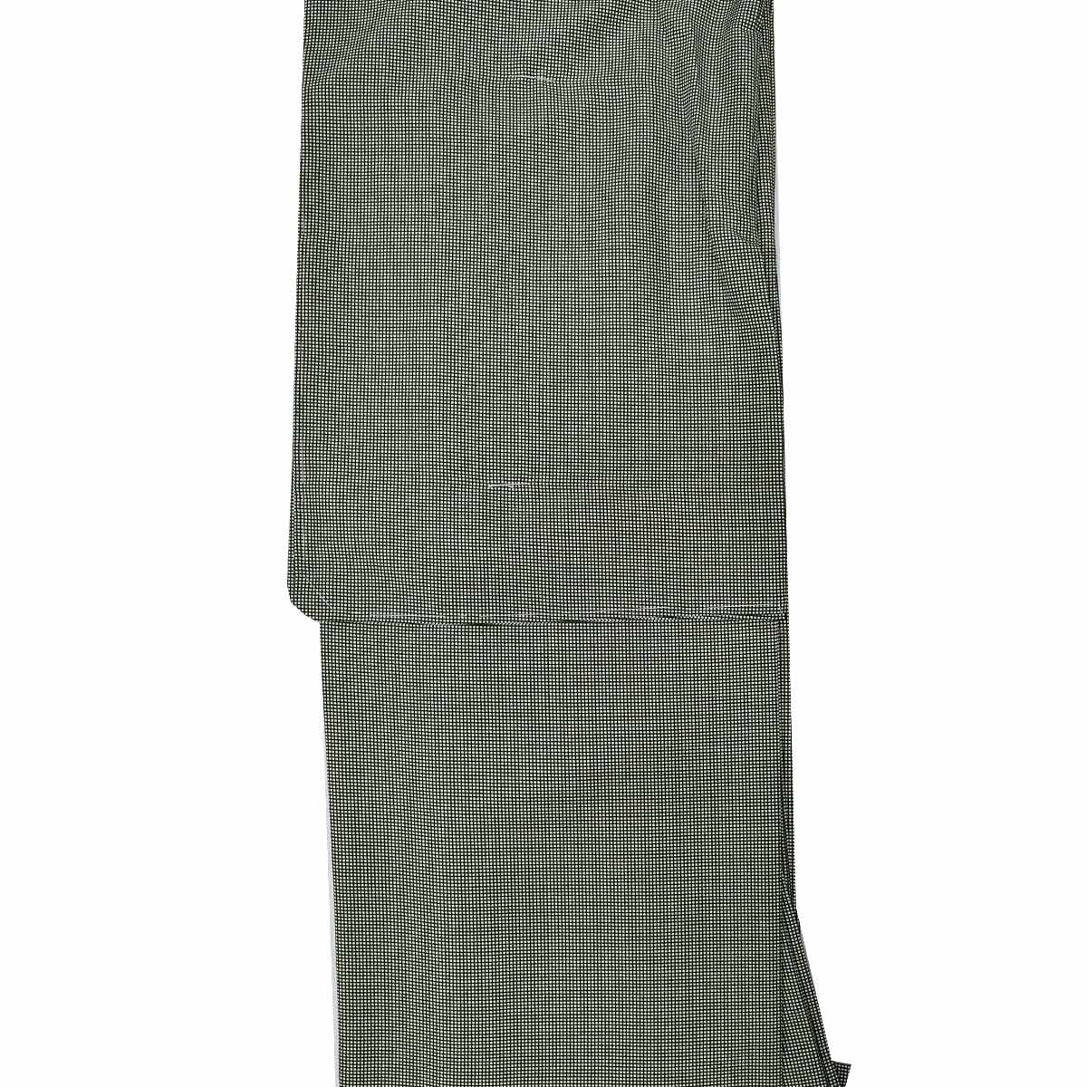 【角通し】洗える 袷 江戸小紋 単品【L寸】洗える着物 普段着 小紋 緑番号c828-1c