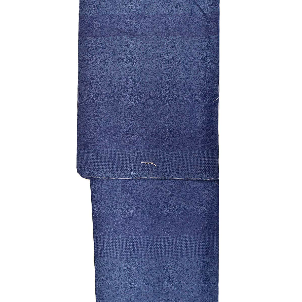 【裂取り】洗える 袷 江戸小紋 単品【L寸】洗える着物 普段着 小紋 青番号c828-1f
