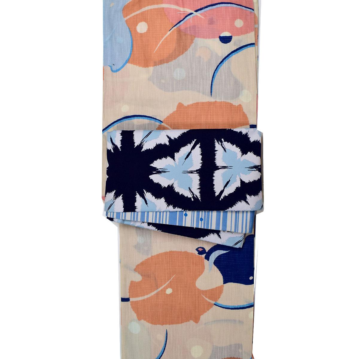 《 tsumori chisato 》 浴衣2点セット (浴衣+帯【彩陽織】 ) 浴衣セット レディース 花火大会 夏祭り 女性用 女性浴衣 ゆかた番号d525-228