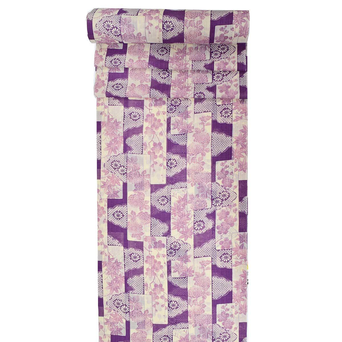 【夏】洗える 紗 小紋 反物 単品未仕立て 着物 和服 和装 普段着 お洒落番号d604-307