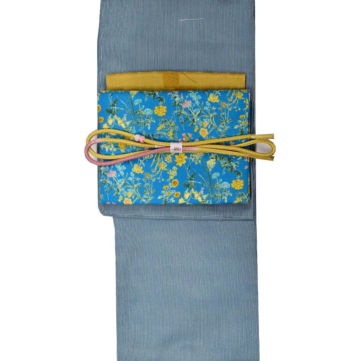 【L寸】洗える 袷 着物セット【4点】【ヒロミチナカノ】洗える袷着物+洗える八寸名古屋帯+正絹帯揚げ+正絹帯締め 着物 和装 和服番号d808-42