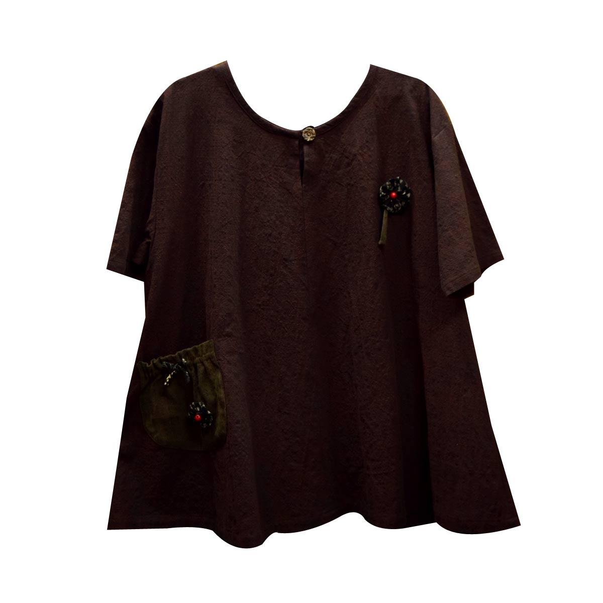 絣衣 トップス 安曇野日本製 フリーサイズd902-24