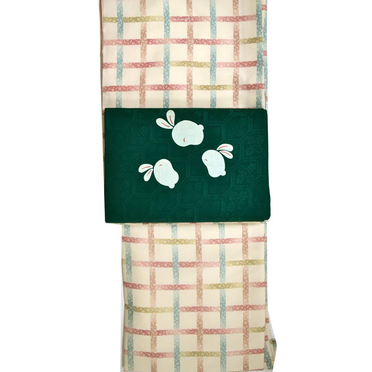 【M寸】洗える 袷 着物セット【2点】洗える袷着物+正絹九寸名古屋帯番号d910-10 着物 和装 和服