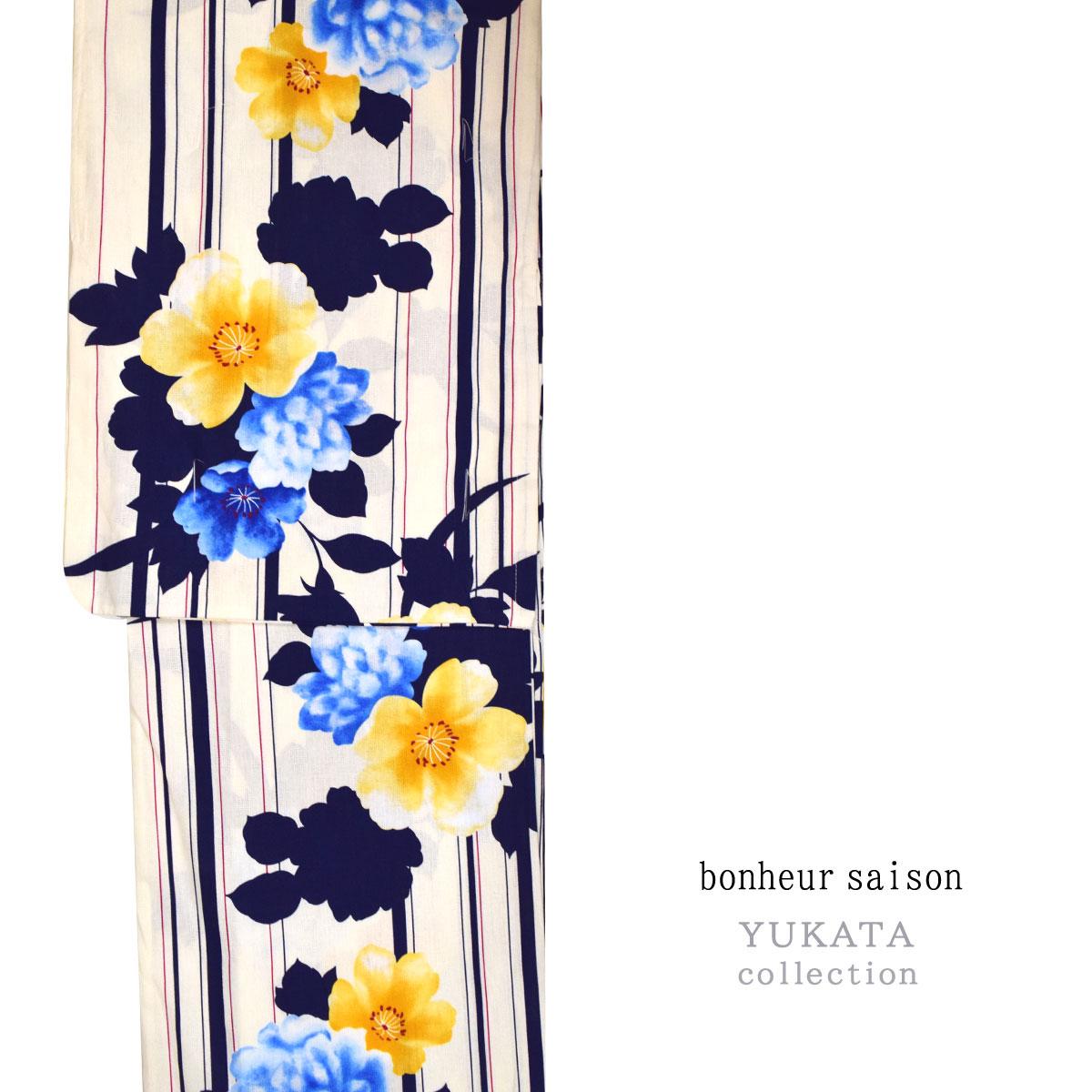【bonheur saison】仕立て上がり 浴衣 単品 浴衣 ゆかた yukata お祭り 夏 イベント レディース番号f625-204【2019MB】