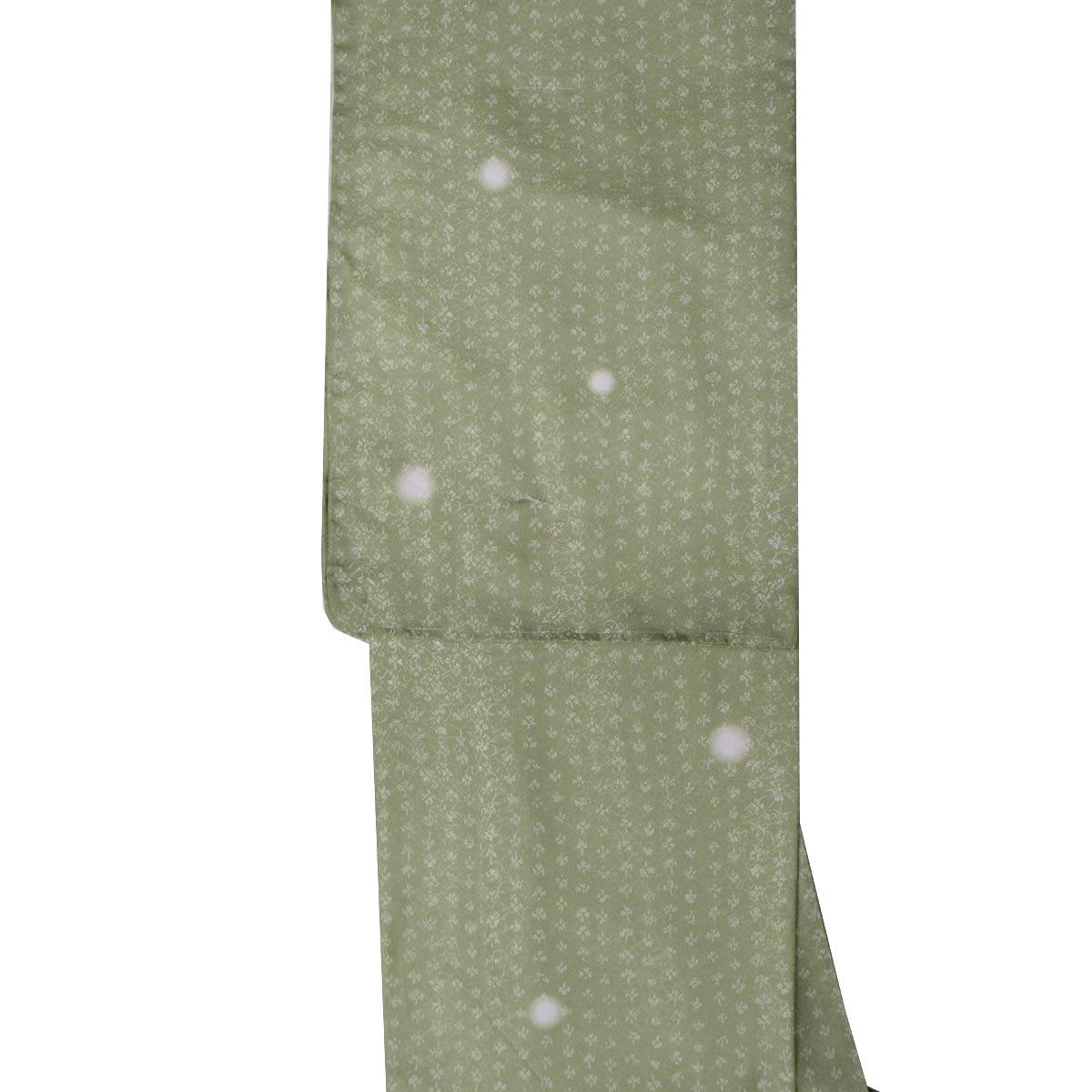 洗える着物 袷 蛍ぼかし 単品【Mサイズ】洗える着物 普段着 小紋 グリーン番号f926-301m