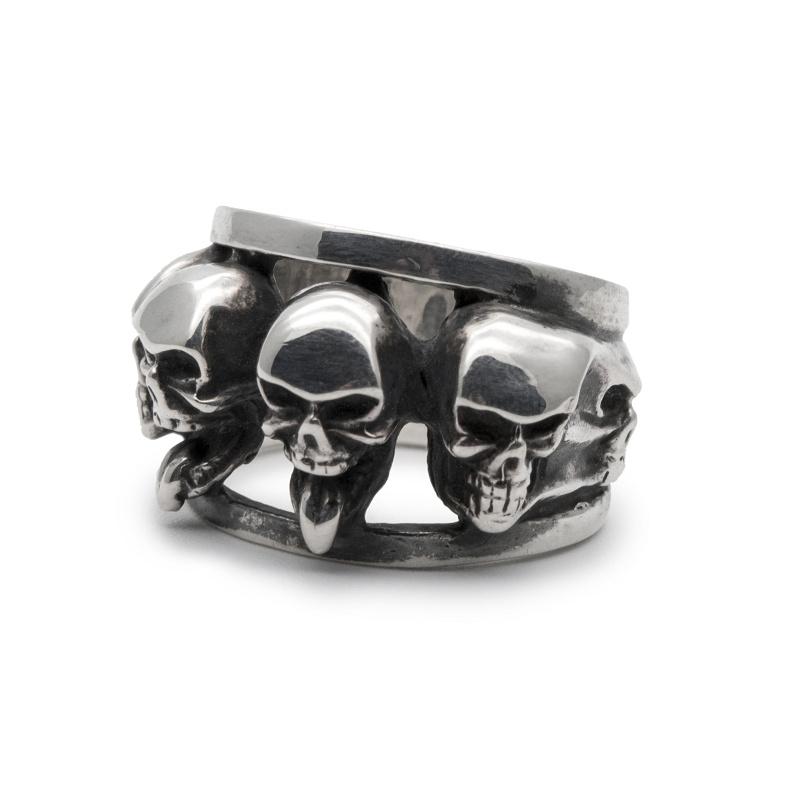 ドクロ スカル 骸骨 リング 指輪 シルバー シルバー925 メンズ ユニーク おもしろ ギフト プチギフト プレゼント おしゃれ ブランド SOLID DESIGN
