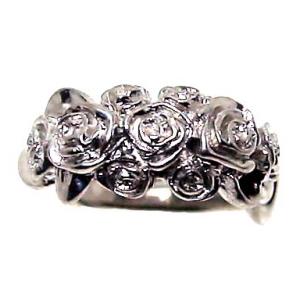 薔薇 バラ ブーケ フラワー 花 リング 指輪 シルバー シルバー925 レディース ユニーク おもしろ ギフト プチギフト プレゼント おしゃれ ブランド SOLID DESIGN