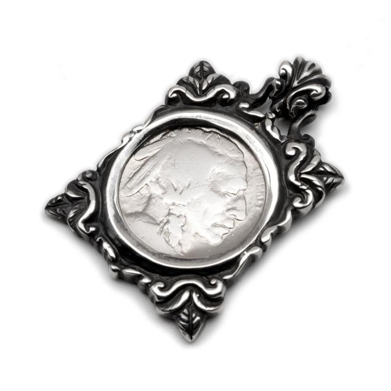 5セント コイン シルバー sv925 ネックレス 硬貨 フレーム 額縁 ペンダント チャーム レディース メンズ ギフト プレゼント 人気 おしゃれ ブランド SOLID DESIGN