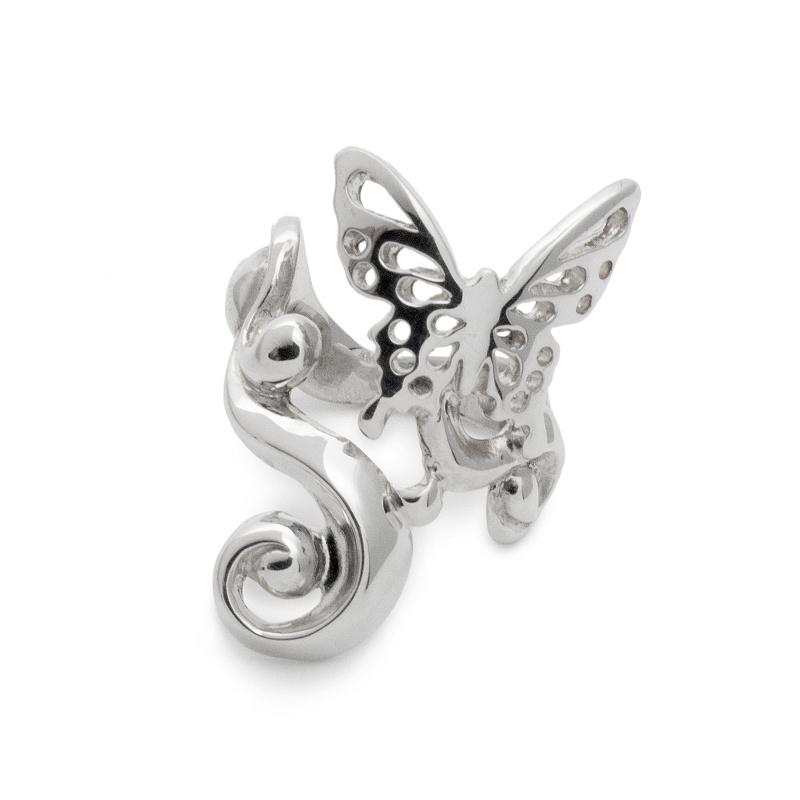 蝶 蝶々 チョウチョ バタフライ リング 指輪 シルバー sv925 レディース ユニーク ギフト プレゼント 人気 おしゃれ ブランド SOLID DESIGN