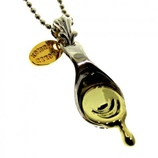 スプーン ハチ蜜 蜂蜜 シルバー sv925 ネックレス ペンダント 真鍮 チャーム レディース メンズ ギフト プレゼント 人気 おしゃれ ブランド SOLID DESIGN