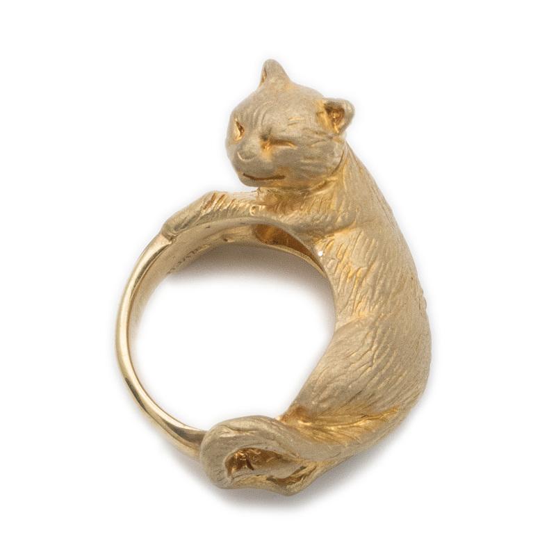 猫 キャット ネコ リング 指輪 シルバー シルバー925 レディース ユニーク おもしろ ギフト プチギフト プレゼント おしゃれ ブランド SOLID DESIGN