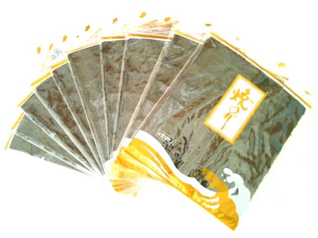 【送料無料】焼きたて!有明海産 高級海苔10帖【100枚】ギフトBOX付
