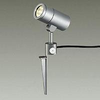 ◎DAIKO LED照明器具 アウトドアスポットライト スパイク式 白熱灯100Wタイプ 電球色 LED内蔵 配光60° 差込プラグ付 防雨形 本体色:シルバー DOL-4441YS