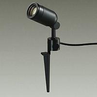 ◎DAIKO LED照明器具 アウトドアスポットライト スパイク式 ダイクロハロゲン65Wタイプ 電球色 LED内蔵 配光25° 差込プラグ付 防雨形 本体色:黒 DOL-4056YB