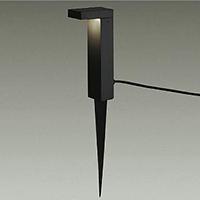 ◎DAIKO LED照明器具 アウトドア アプローチ灯 白熱灯60Wタイプ 電球色 LEDランプ内蔵 差込プラグ付 防雨形 本体色:黒 スパイク式 DWP-37257