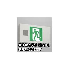 ◎東芝 LED誘導灯 誘導音付加点滅用 天井直付形 B級 20A形 両面灯 自己点検タイプ 電池内蔵形 FBK-42602VXN-LS17(表示板別売)