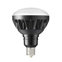 ◎岩崎 LEDioc(レディオック) LEDアイランプ バラストレス水銀灯300W相当  昼白色 全光束4,200lm E39口金 本体:黒色  LDR33N-H/E39B750