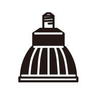 ◎ODELIC LED電球(LEDランプ) ダイクロハロゲン形 2700K ミディアム(中角)タイプ φ70(70mm) E11口金 本体色:黒色(ブラック) No.258K(LDR10L-M-E11/B)