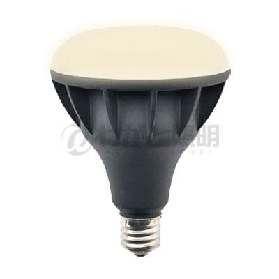 ◎ニッケンハードウェア Vierlamp(ビューランプ) LED電球 ビーム電球 屋外サイン用 広角配光 バラストレス水銀灯300W形 電球色 2700K 4185lm E39口金 本体:黒色(ブラック) VLE39WD-W/BK