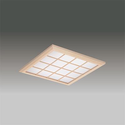 ◎東芝 LEDベースライト TENQOOスクエア パネルタイプ FHP32形×3灯用器具相当 温白色 埋込形 和風格子パネル 埋込穴□450mm AC100V~242V 専用調光器対応 LEDパネル付 LEKR745651XWW-LD9