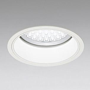 ◎ODELIC LED軒下用ベースダウンライト FHT42W×3灯相当 アイボリーホワイト 69° 埋込穴Φ200mm 温白色 3500K  M形 一般型 調光非対応 防雨形 XD258086 ※受注生産品