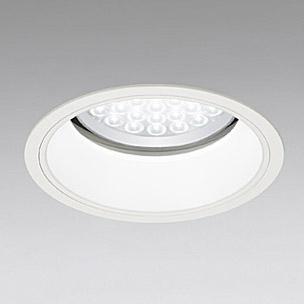 ◎ODELIC LED軒下用ベースダウンライト セラミックメタルハライド100W相当 アイボリーホワイト 69° 埋込穴Φ200mm 白色 4000K  M形 一般型 調光非対応 防雨形 XD258100 ※受注生産品