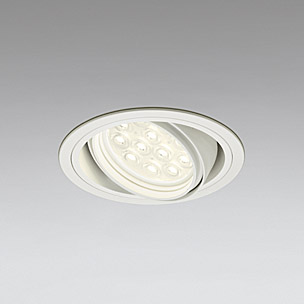 ◎ODELIC LEDベースダウンライト CDM-T35W相当 オフホワイト 20° 埋込穴Φ125mm 電球色 3000K  M形 一般型 専用調光器対応 XD258196P (調光器・信号線別売) ※受注生産品