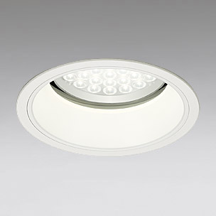 ◎ODELIC LEDベースダウンライト セラミックメタルハライド100W相当 アイボリーホワイト 69° 埋込穴Φ200mm 温白色 3500K  M形 一般型 調光非対応 XD258539 ※受注生産品