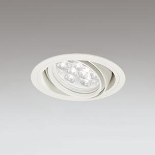 ◎ODELIC LEDユニバーサルダウンライト CDM-T35W相当 オフホワイト 14° 埋込穴Φ125mm 温白色 3500K  M形 一般型 調光非対応 XD258608F ※受注生産品