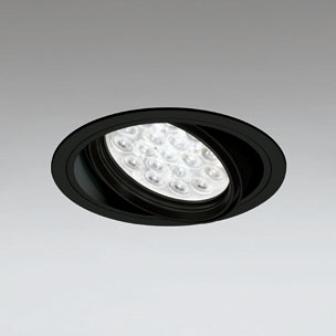◎ODELIC LEDユニバーサルダウンライト CDM-T70W相当 ブラック 47° 埋込穴Φ150mm 白色 4000K  M形 一般型 調光非対応 XD258657F ※受注生産品