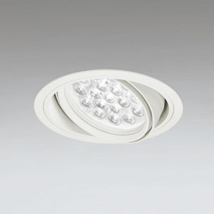 ◎ODELIC LEDユニバーサルダウンライト CDM-T70W相当 オフホワイト 47° 埋込穴Φ150mm 温白色 3500K  M形 一般型 調光非対応 XD258664F ※受注生産品