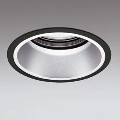 ◎ODELIC LED高効率ベースダウンライト セラメタ100W相当 ブラック・銀色 47°埋込穴Φ150mm 電球色 3000K  M形 一般型 専用調光器対応 XD401112 (電源・調光器・信号線別売)