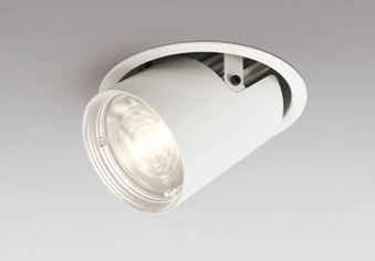 ◎ODELIC LEDダウンスポットライト CDM-T70W相当 オフホワイト 64° 埋込穴Φ125mm 電球色 3000K  専用調光器対応 XD402539 (電源・調光器・リモコン・信号線別売)
