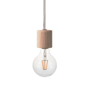 ◎ディクラッセ LEDペンダントランプ LED ヌード/LED Nude 引掛けシーリング コード:白色 LED電球 白熱電球60W相当 E26口金(ランプ付き) LP3095NA