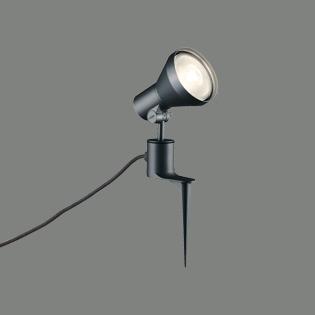 ◎ODELIC LEDエクステリアスポットライト スパイク式 プラグ付キャプタイヤケーブル LED電球ビーム電球形 E26口金用 (ランプ別売) 防雨型 本体ブラック OG044142