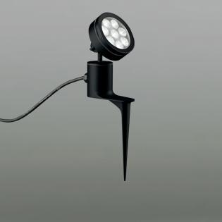 ◎ODELIC LEDエクステリアスポットライト スパイク式 プラグ付キャプタイヤケーブル LED一体型 ビーム球150W相当 昼白色 ミディアム配光 本体ブラック 防雨型 OG254091