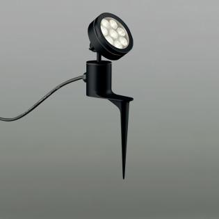 ◎ODELIC LEDエクステリアスポットライト スパイク式 プラグ付キャプタイヤケーブル LED一体型 ビーム球150W相当 電球色 ミディアム配光 本体ブラック 防雨型 OG254092